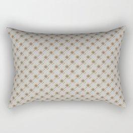 Gray Brown Mosaic Seamless Pattern Rectangular Pillow