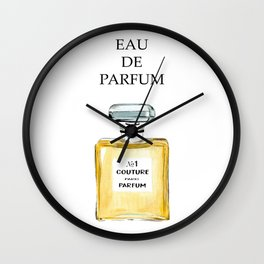 Yellow Parfum Wall Clock