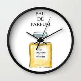 Yellow Parfum Wall Clock