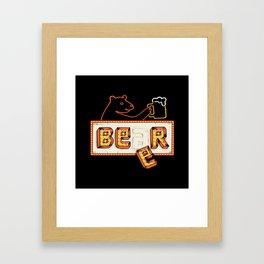 Bear or Beer Framed Art Print
