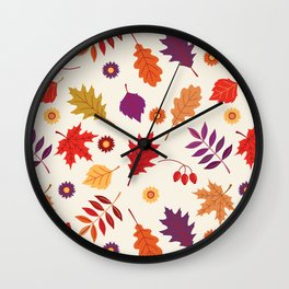 Autumn foliage with bright leaves Wall Clock