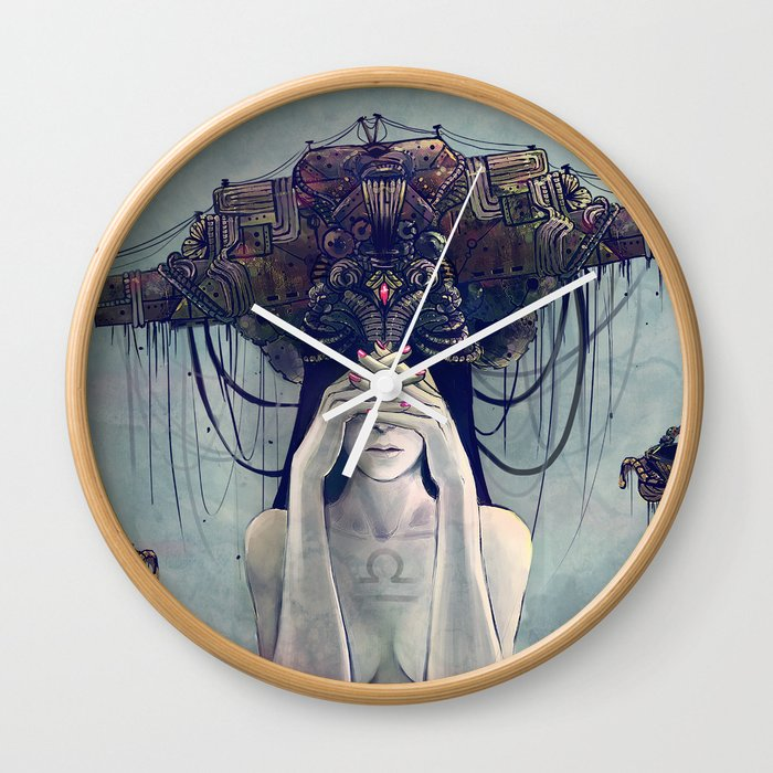 Zodiac Sign Libra Wall Clock By Yuhon Society6