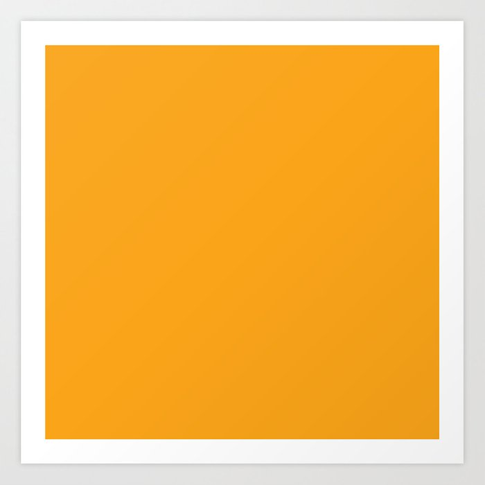 Orange Solid Color Kunstdrucke