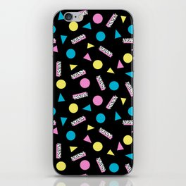 Max Out - abstract memphis minimal colorful neon bright happy shapes geometric 1980s 80s retro iPhone Skin