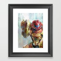 at last the galaxy is at peace  Framed Art Print