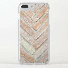 Herringbone Brick Clear iPhone Case