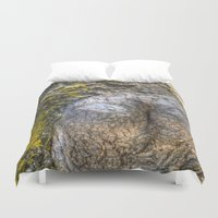 humor Duvet Covers featuring Tree Humor by Christia Caldwell Moody