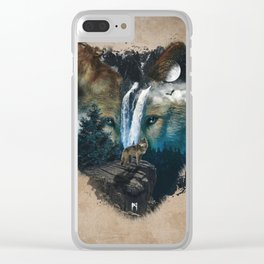 Calm of the Wolf Clear iPhone Case