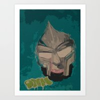 mf doom Art Prints featuring MF DOOM by Rashida Chavis