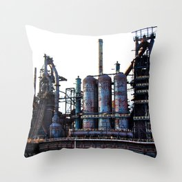 Bethlehem Steel Blast Furnace 2 Throw Pillow