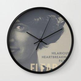 Fleabag, Phoebe Waller-Bridge, british tv comedy, minimalist poster Wall Clock