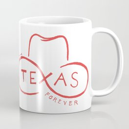 Texas Forever in Red Coffee Mug