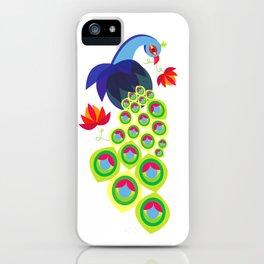 Peacock Love iPhone Case