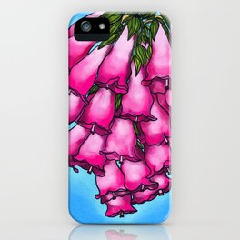 Pretty in Pink Bell Flowers iPhone Case