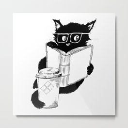 Original Coffee Cat Metal Print