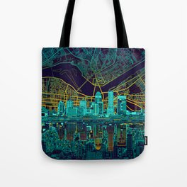 louisville skyline abstract Tote Bag