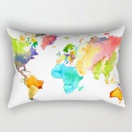 Watercolor World Rectangular Pillow
