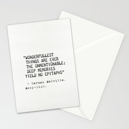 Moby Dick Herman Melville quote 18 Stationery Cards