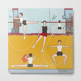 Schol Ballet Training Metal Print