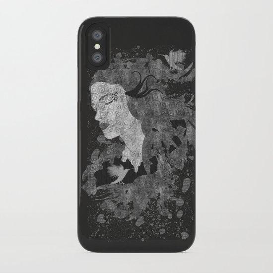Cosmic dreams (B&W) iPhone Case