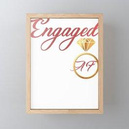 Engaged AF Engagement Valentines Day Framed Mini Art Print