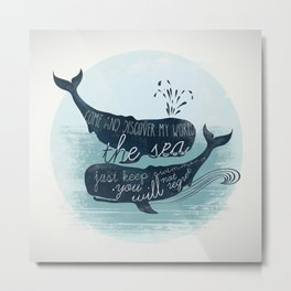 Moby Whale Metal Print