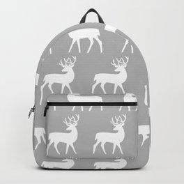 Mid Century Modern Deer Pattern Gray Backpack