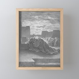Gustave Doré - La Grande Bible de Tours (1866) 107 Ezra Kneels in Prayer Framed Mini Art Print