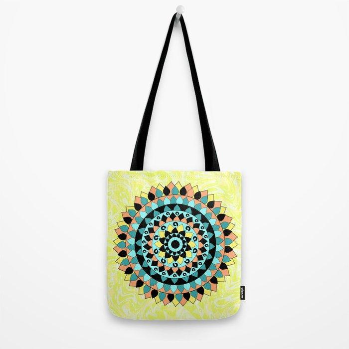Floral mandala Tote Bag