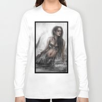 mermaid Long Sleeve T-shirts featuring Mermaid by Justin Gedak