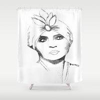 gypsy Shower Curtains featuring Gypsy by Harriet Hendricks