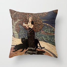 """Circe the Enchantress"" by Edmund Dulac Throw Pillow"