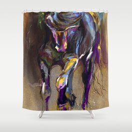 Unbridled. Shower Curtain