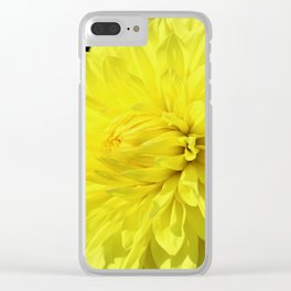 Glowing Yellow Dahlia Clear iPhone Case