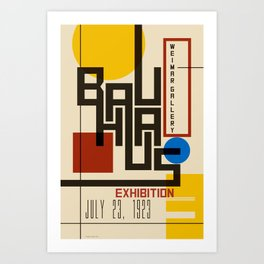 Bauhaus Poster I Art Print