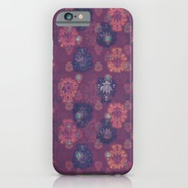 Lotus flower - mulberry woodblock print style pattern iPhone Case