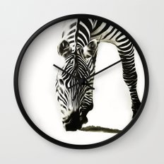 Zebra - paint Wall Clock