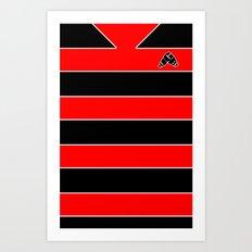 Rugby Stripes Art Print