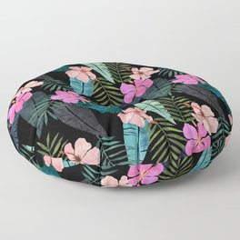 Island Goddess Tropical Black Floor Pillow