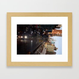 Night Driving Framed Art Print
