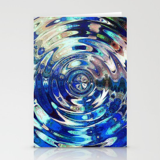 Water Element Ripple Pattern Stationery Cards