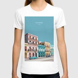 Havana, Cuba Travel Artwork T-shirt