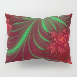 Christmas Flow - Fractal Art Pillow Sham