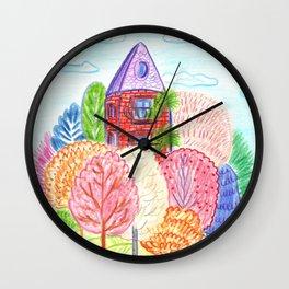 Autumn in town Wall Clock
