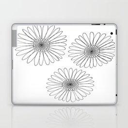 B&W Daisies Laptop & iPad Skin