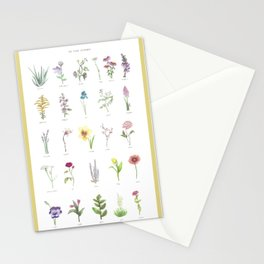 The Plant Alphabet Stationery Cards
