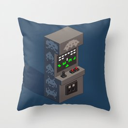SpaceInvaders arcade cabinet Throw Pillow