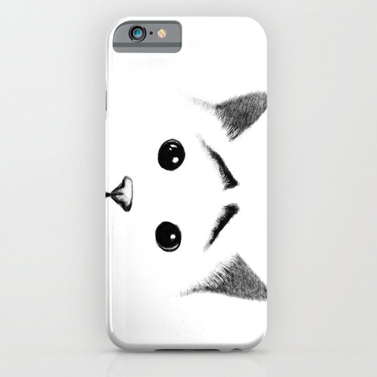 Cat with eyebrows iPhone & iPod Case