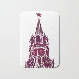 Kremlin Chimes-red Bath Mat