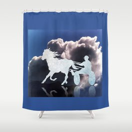 Chariots of Fire - Harness Racing Shower Curtain